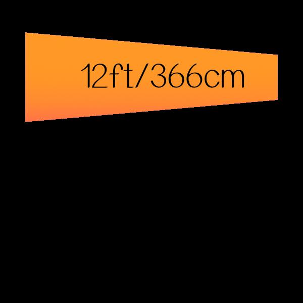 12ft (144 inch) / 366 cm
