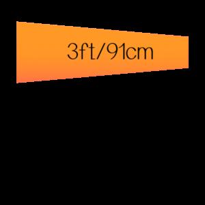 3 ft (36 inch) / 91 cm Long